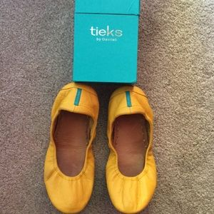 Tieks Mustard Yellow Ballet Flats size 7 with box